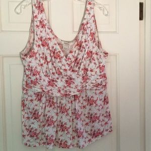 Sundance sleeveless floral blouse, L
